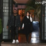 Kanye West et sa chrie Kim Kardashian sortent du restaurant &laquo;&nbsp;La Villa&nbsp;&raquo;  Paris ce 21 juin 2012