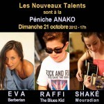 Les Nouveaux Talents sont sur la Pniche Anako ce dimanche 21 octobre 2012