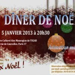 Dner de Nol inoubliable  l&rsquo;UGAB ce 5 Janvier 2013 au Centre Culturel Alex Manoogian