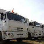 Tous les camions humanitaires russes venus aider les separatistes ukrainiens  sont revenus en Russie