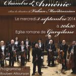 Eglise romane de Gargilesse : 3 Septembre 2014 a 20h30 : concert exceptionnel