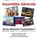 Invitation pour l'assemblée générale annuelle de COPEA à la maison des étudiants
