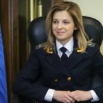 Procureure de Crimée, Natalia Poklonskaya est interdite d'entrée en Union européenne suite aux sanctions anti-russes