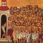 Les 40 martyrs de Sébaste , en Arménie