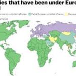 5 pays n'ont jamais été colonisés par l'Europe , certains dont la Turquie ont été contrôlés brièvement