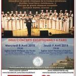 A Rome, au Vatican le dimanche 12 avril , et en avant-première à Paris, les 8 & 9 avril