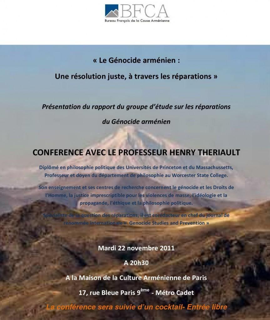 BFCA - Conférence avec le professeur Henry Theriault