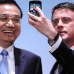 1er ministre chinois et Manuel Valls
