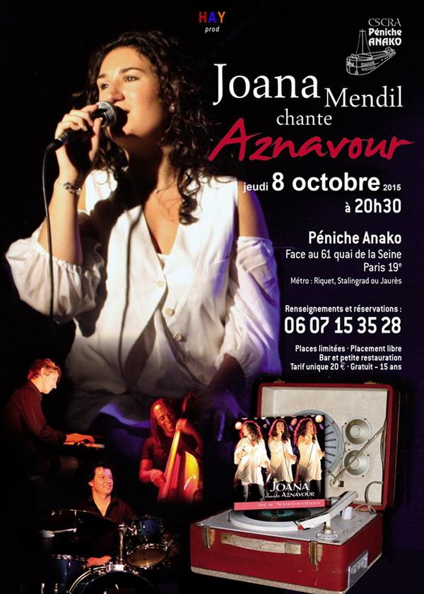 Joana Mendil chante Charles Aznavour